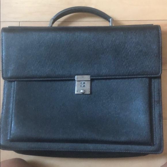 Salvatore Ferragamo Handbags - AUTHENTIC Salvatore Ferragamo Croc Briefcase